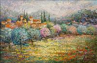 «Цветение садов» картина маслом