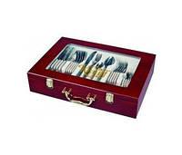 Набор столовых приборов 72 предмета в чемодане Matte Gold 398767673