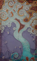 Абстрактная картина батик крона