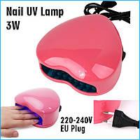 УФ LED лампа - сердце - 3w