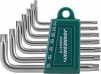 Комплект угловых ключей Torx Т10-Т40, S2 материал, 7 предметов  JONNESWAY (H08M07S)
