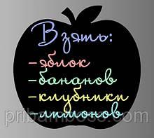 "Магнітна дошка на холодильник ""Яблуко"" крейда"