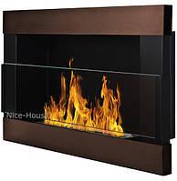Биокамин Nice-House H-Line 65x40 см, защитное стекло, разные цвета,