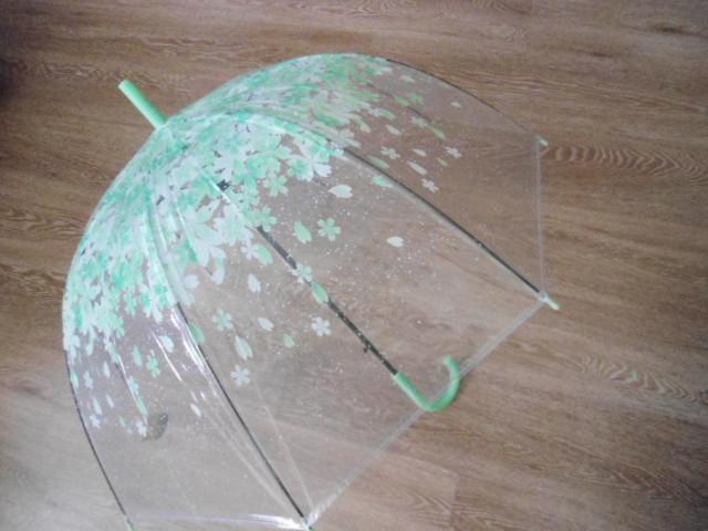 """Зонт зонтик прозрачный трость, полуавтомат в мелкий листочек - Интернет-магазин """"Welcome"""" в Херсоне"""
