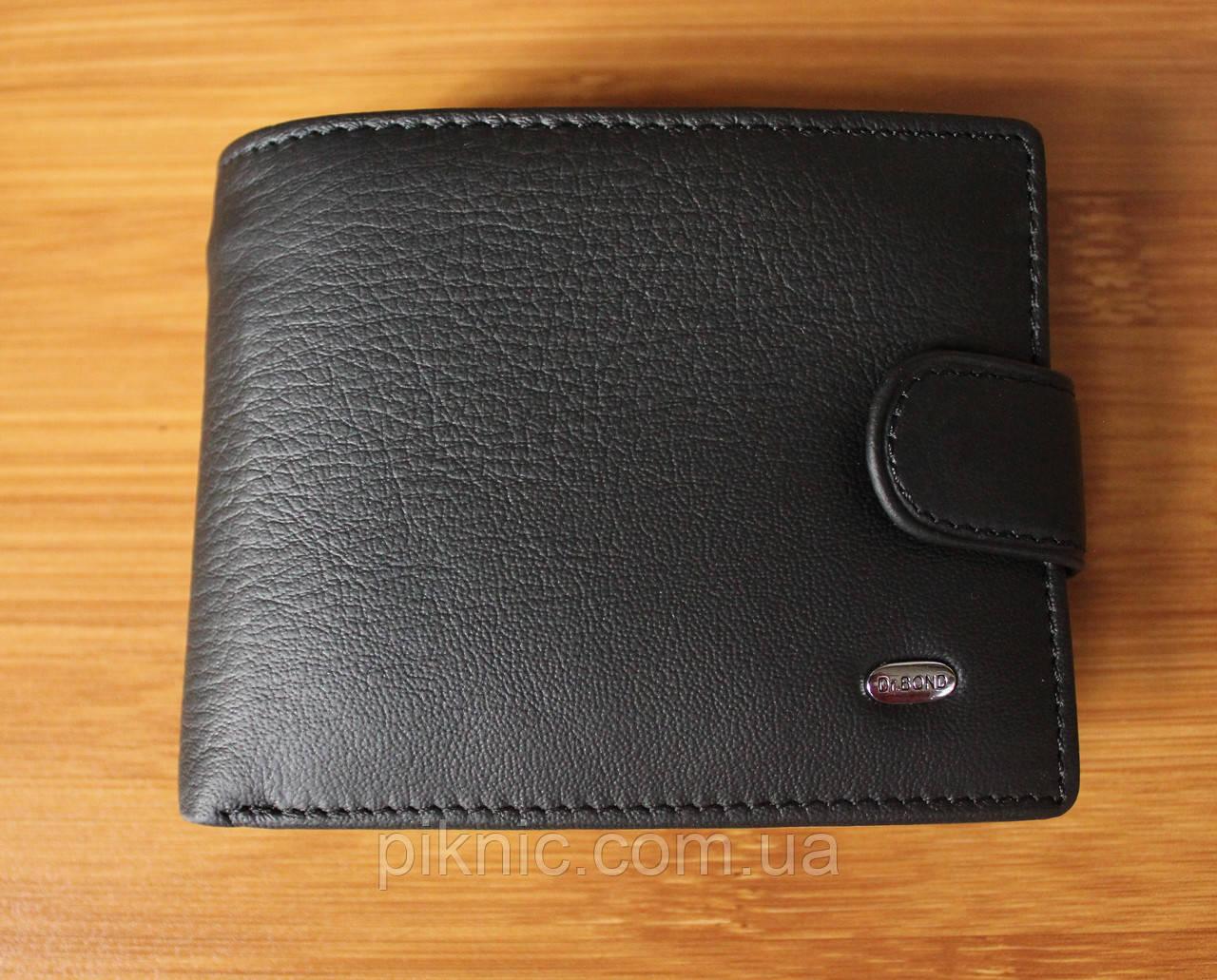 Компактный кожаный мужской кошелек Dr Bond. Портмоне из натуральной кожи