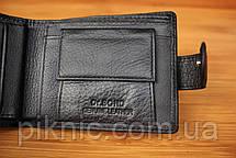 Компактный кожаный мужской кошелек Dr Bond. Портмоне из натуральной кожи, фото 2