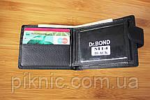 Компактный кожаный мужской кошелек Dr Bond. Портмоне из натуральной кожи, фото 3