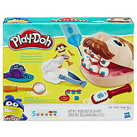Набор пластилина Плей До Мистер Зубастик (Юный стоматолог) Play-Doh Doctor Drill 'n Fill Retro