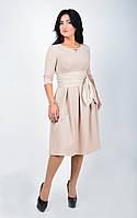 """Красивое платье миди с кожанным поясом """"121"""", фото 1"""
