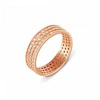 Золотое кольцо с фианитами р17.5