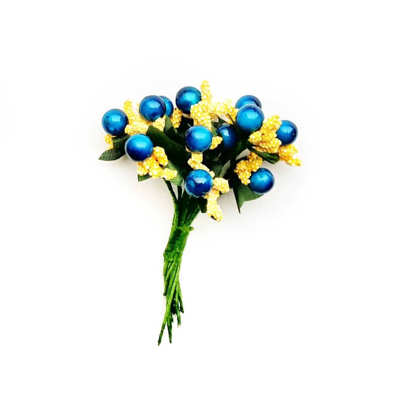 Добавка синяя с желтым12 шт