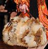 Cумка из натурального меха лисы высокого качества 35х30 см