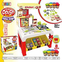 Кухня детская с пластилином (модулин, тесто для лепки)