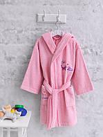 Детский махровый халат 5-6 лет Marie Claire CHATS розовый