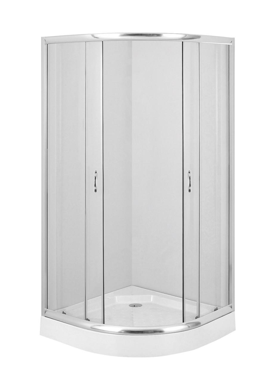 Душевая кабина полукруглая Deante FUNKIA, стекло прозрачное, 80 см