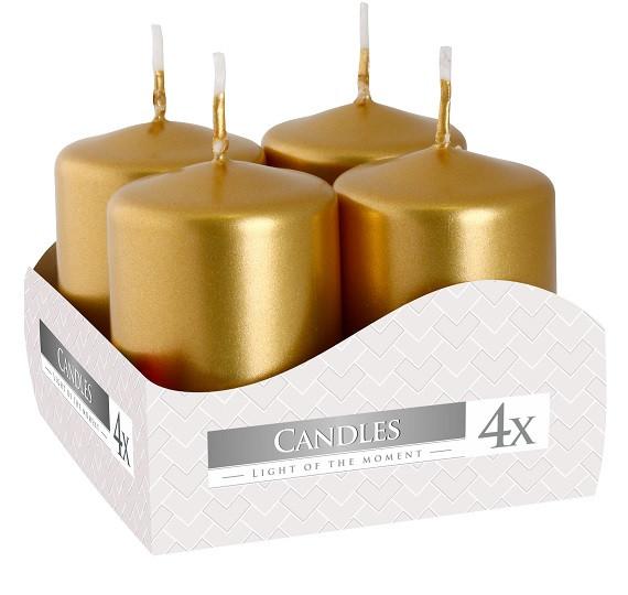 Свеча золотая 40/60 мм 6см 4шт