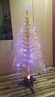 Новогодняя светодиодная, светящияся, оптоволоконная, елочка 150см, белая