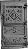 Дверь печная чугунная (вышиванка)
