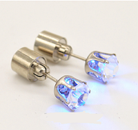 """Серьги-гвоздики """"LED Голубой"""""""