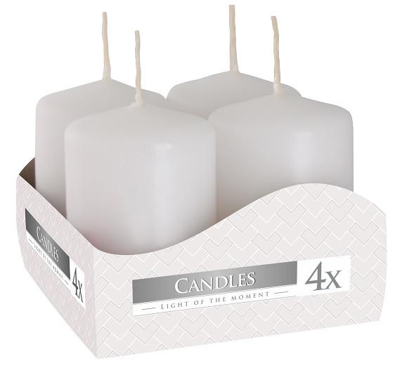 Свеча белая декоративная цилиндрическая 40х60мм 4шт