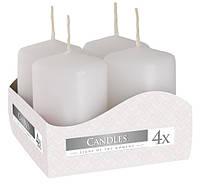 Свеча белая декоративная цилиндрическая 40х60мм 4шт, фото 1