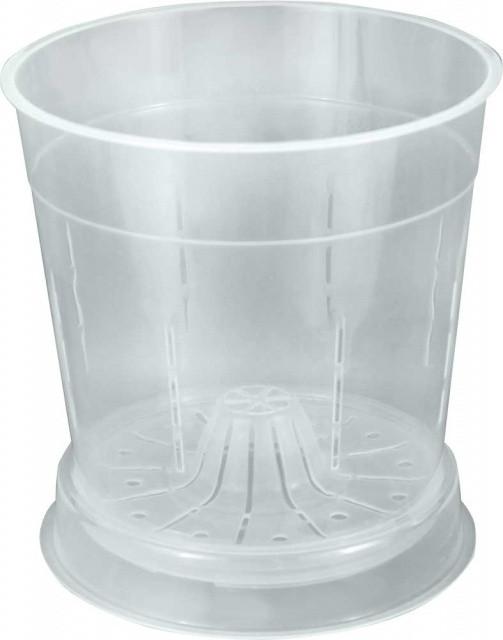 Горшок для орхидей пластиковый прозрачный  d15см