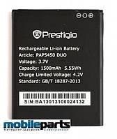 Оригинальный аккумулятор АКБ (Батарея) для Prestigio MultiPhone 5450 Duo  (Li-ion 3.7V 1500mAh)