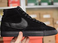 Мужские кроссовки Nike blazer hight black