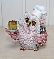 Фигурка Сова повар 11 см OL-6392-XA