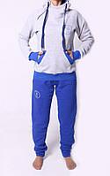 Комбинированый женский спортивный костюм на флисе 4290
