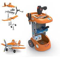 Smoby Майстерня-візок інструментів з літаком Planes Dusty 500252