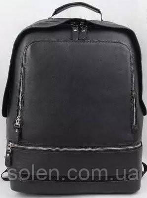 Молодёжный  кожаный  рюкзак.