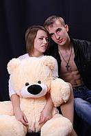 Мягкий Плюшевый Медведь Бублик 110см №3 Б1-23  Персиковый (мишка игрушка)