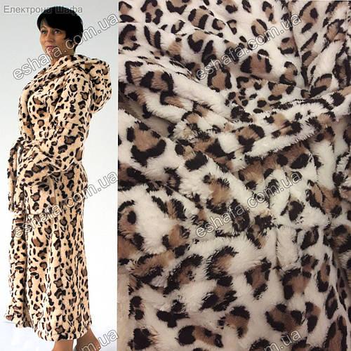 bef46b3dbf1af Женский длинный махровый халат Леопард S-XL размеры: продажа, цена в Киеве.  халаты женские от