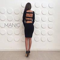 Сексуальное короткое платье с открытой спиной