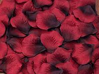 Лепестки роз Красно-черные декоративные 150 шт/уп