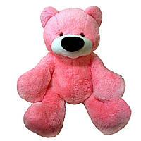 Мягкий Плюшевый Медведь Бублик 110см №3 Б1-23 Белый с сердцем (мишка игрушка)