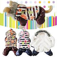 Комбинезон толстовка для маленьких собак Dog Clothes Winter
