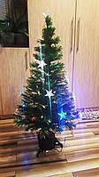 Новогодняя светодиодная, светящияся, оптоволоконная, елочка 120см, зеленая