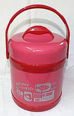 """Качественный детский термос, пищевой (1,5 л), цвет розовый, ТМ """"S&T"""", фото 2"""