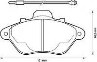 Колодки тормозные передние, дисковые FOMAR 554581, 51554581; 425080; LPR 05P583; DELPHI LP666 на Peugeot 605