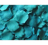 Лепестки роз Бирюзовые декоративные 150 шт/уп