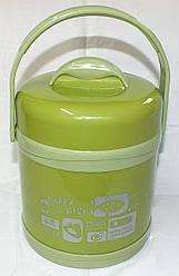 """Качественный детский термос, пищевой (1,5 л), цвет салатовый, ТМ """"S&T"""""""