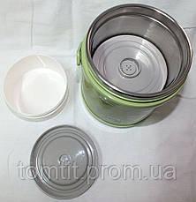 """Качественный детский термос, пищевой (1,5 л), цвет салатовый, ТМ """"S&T"""", фото 3"""