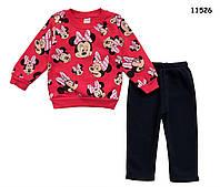 Теплый костюм Minnie Mouse для девочки. 86 см, фото 1