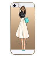 Прозрачный силиконовый Чехол для Iphone 6/6S - (Девочки)