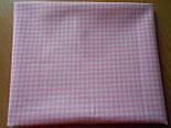 Лоскут ткани №61а  в мелкую розовою клеточку, фото 2