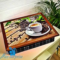 Поднос с подушкой Кофейное вдохновение