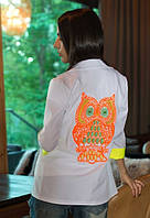 Пиджак женский принт сова