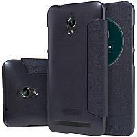 Кожаный чехол-книжка Nillkin Sparkle для Asus Zenfone Go (ZC500TG) черный